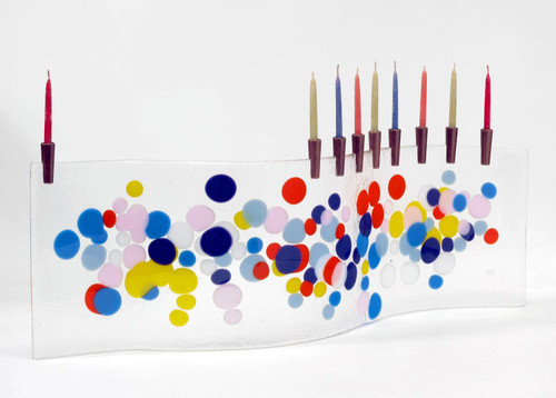 11/19 Fused Glass Menorah