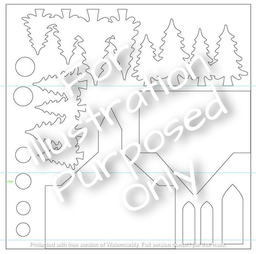 MH Holiday Village Candle Screen Precuts