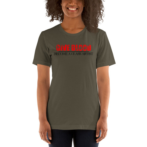 Give Blood, Become A Glass Artist Tee - Women's
