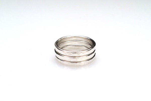 2/15 Textured Silver Rings