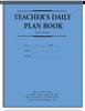Teachers Daily Plan Book - 2 Part (4222D)