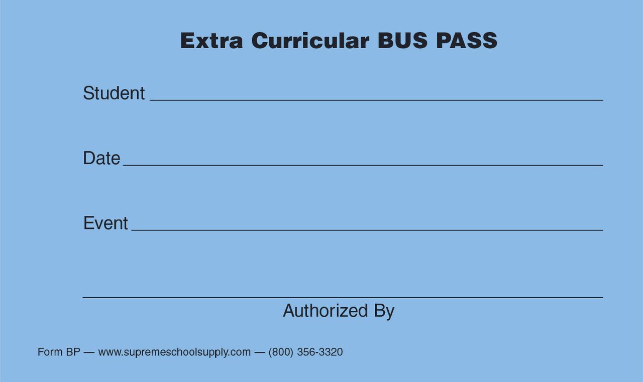 Extra Curricular Bus Pass (BP)