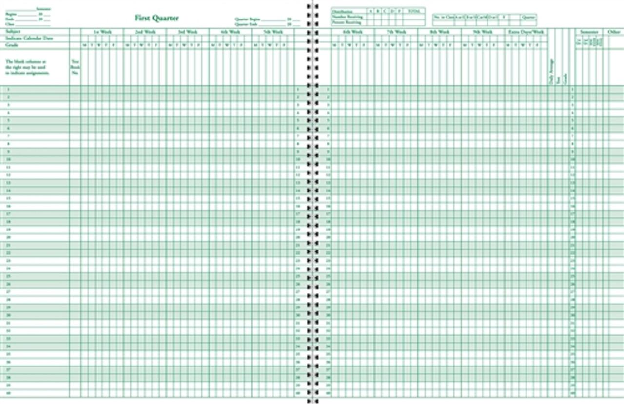 Class Record & Lesson Plan Book Combo (910-8LGN-M117-8C)