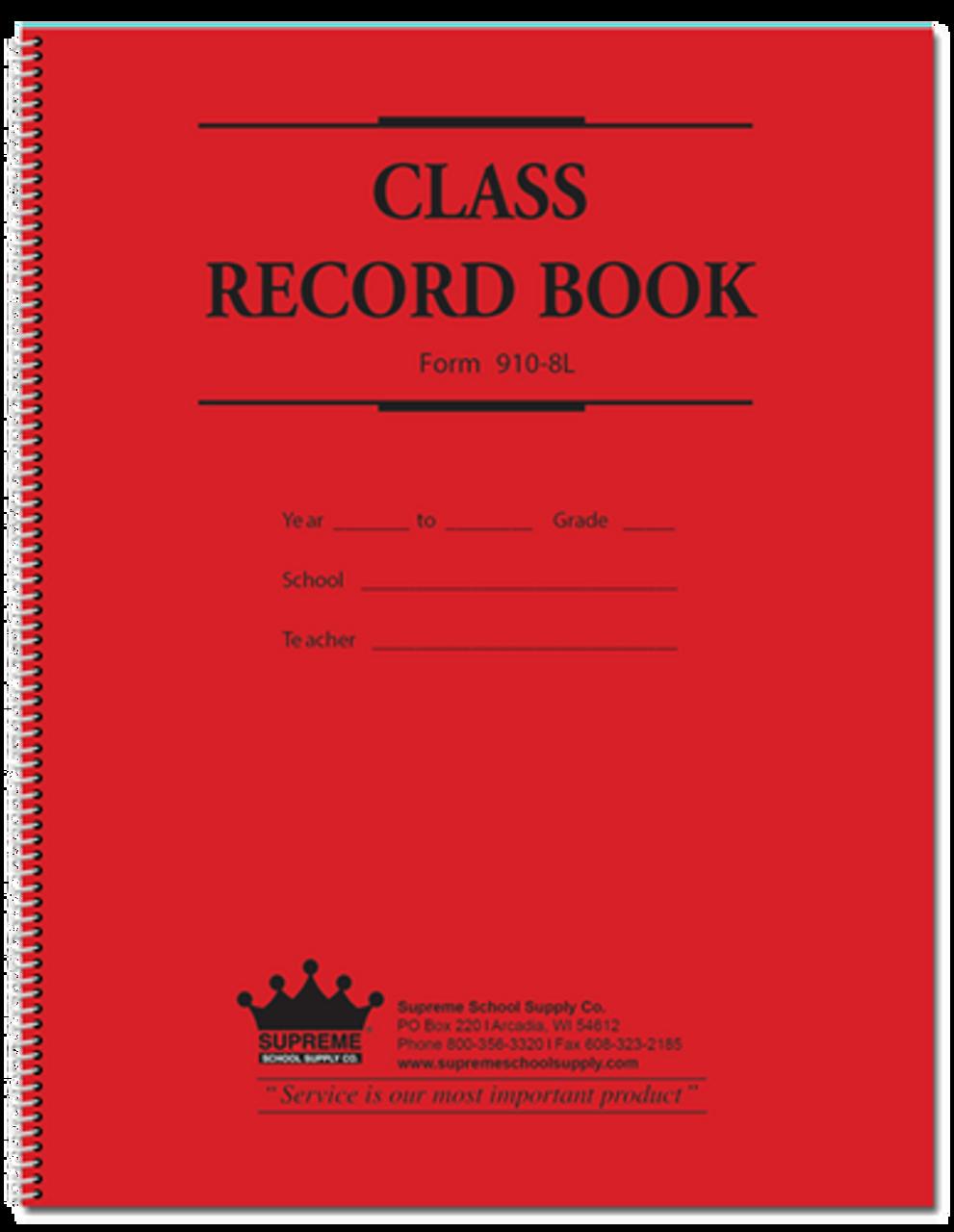 Class Record Book, 8-Subject (910-8L)