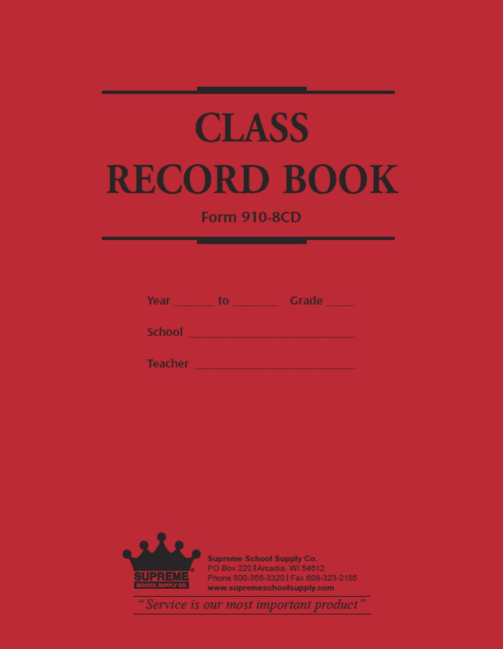 Class Record & Duplicate Plan Book (910-8CD)