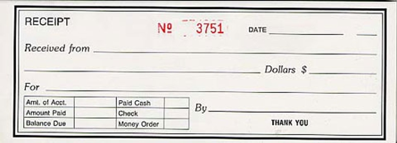 Receipt Book, Single, Duplicate (8K806SDNCR)