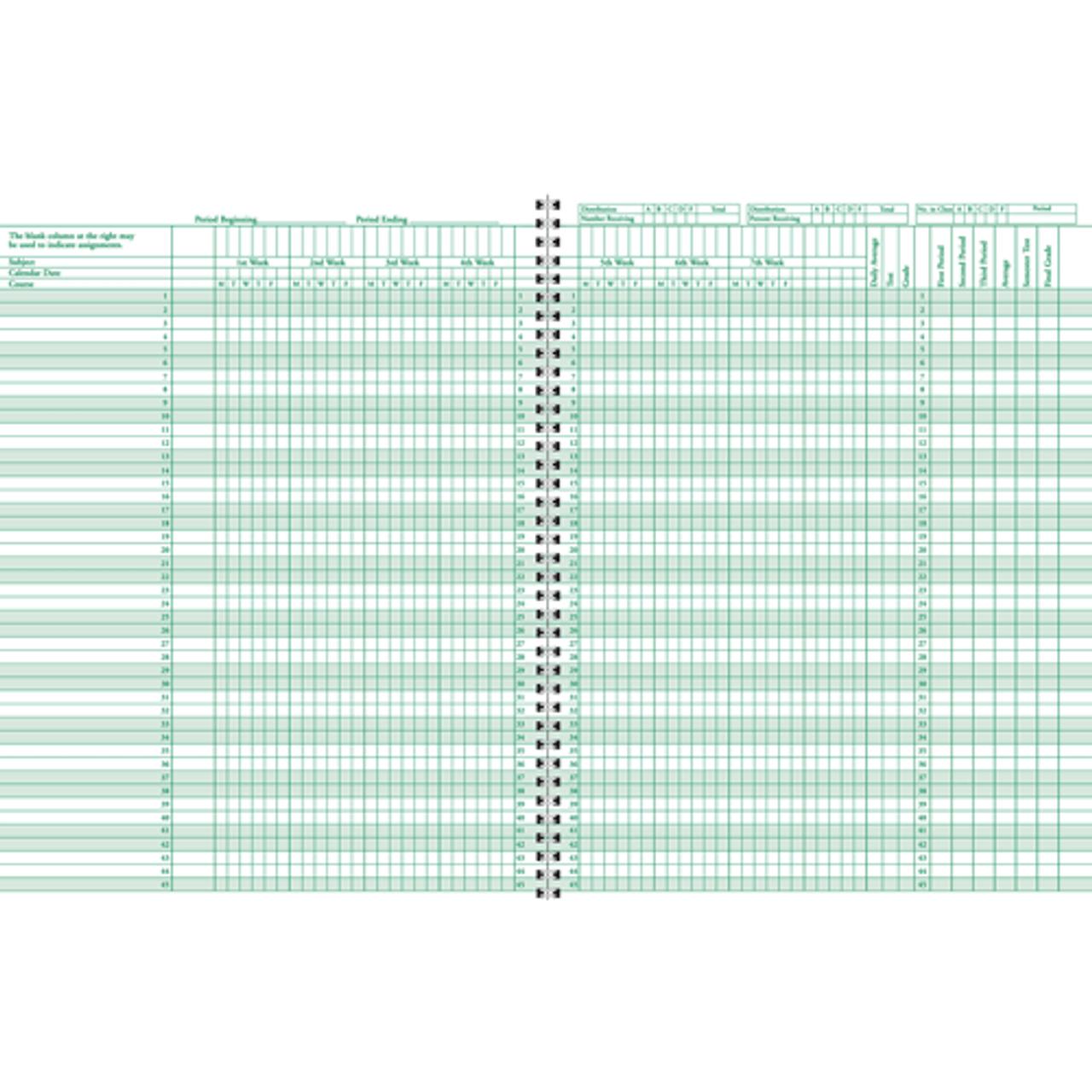 Class Record Book - 8-Subject, 6-Week (76 series) (76-8)