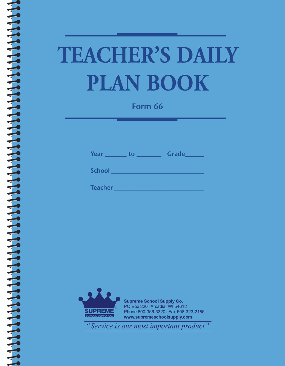 Lesson Plan Book, 6 Day Cycle (66)