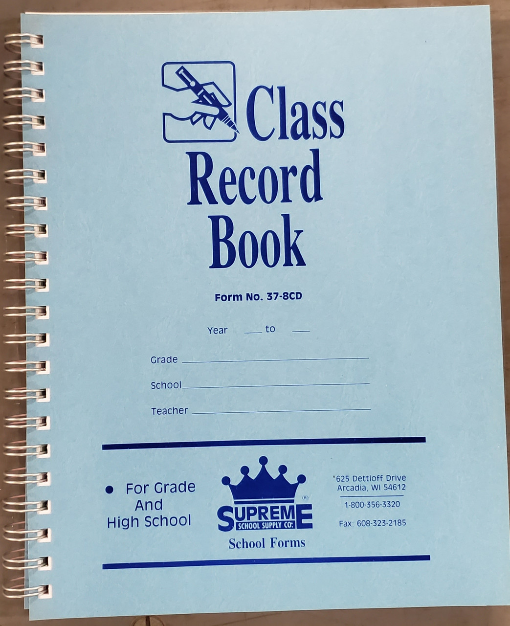 Class Record & Duplicate Plan Book (37-8CD)