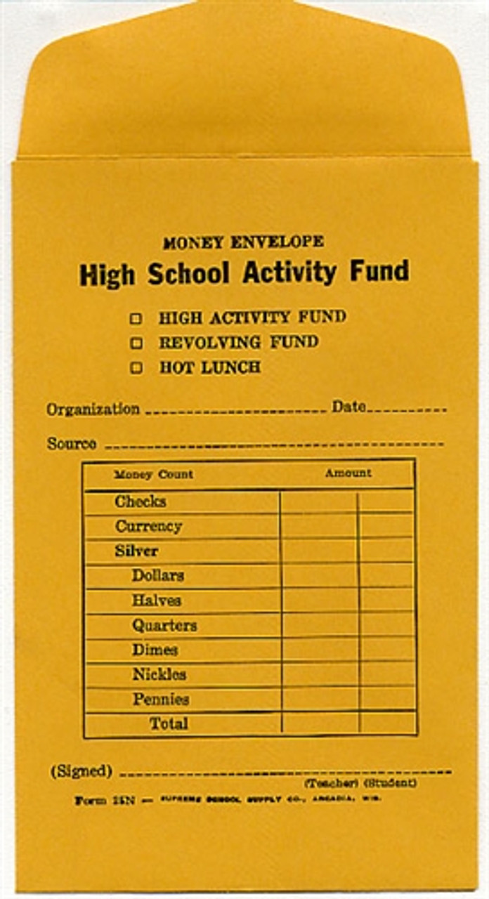 Activity Fund Money Envelope (25N)