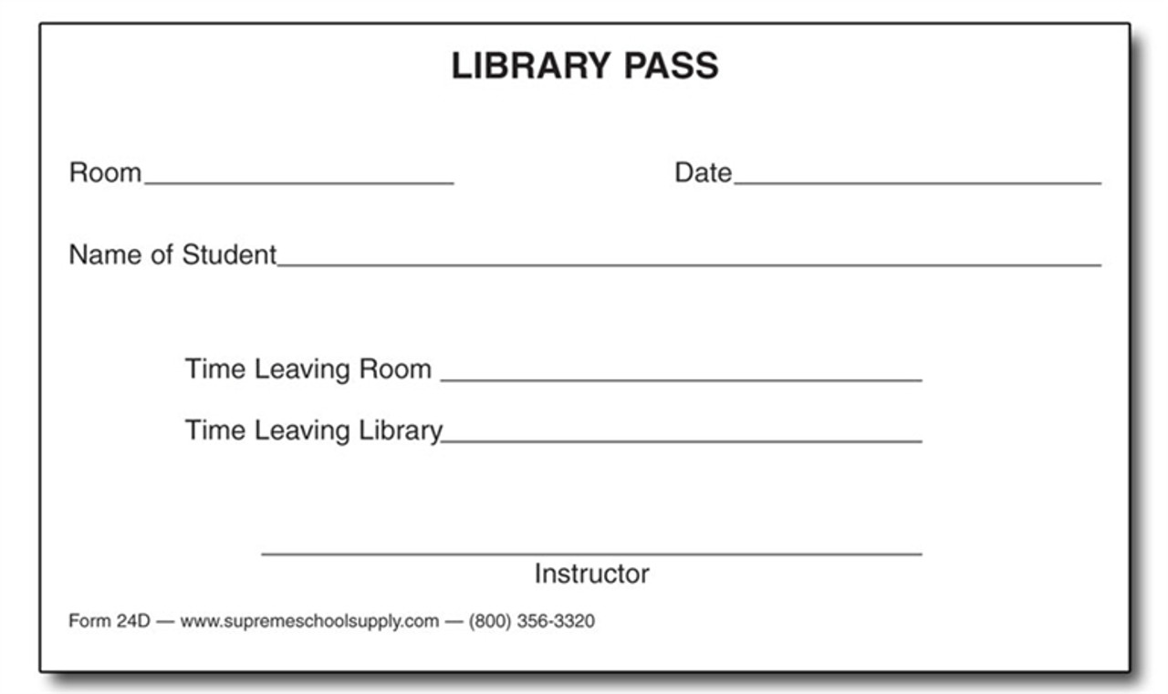 Library Pass (24D)