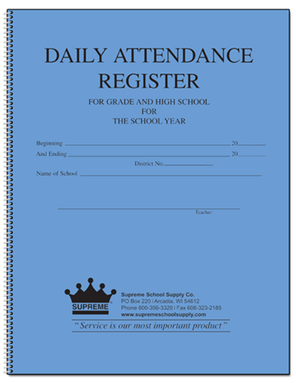 Attendance Register, 189 Series (189)