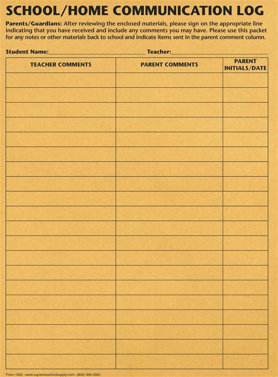 School to Home Communication Envelope - Paper 50pk (1025)