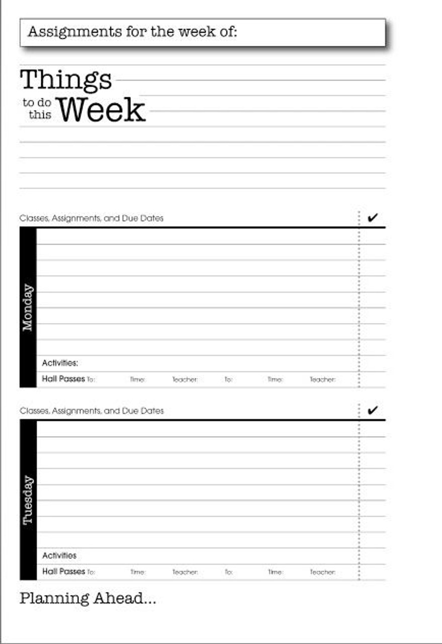 Budget Student Planner - (SAB-BSP)