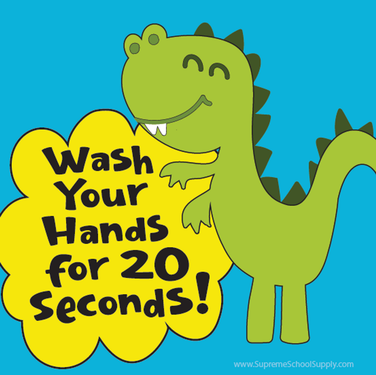 Wash Hands Dino Sticky Note Pad (POST14)
