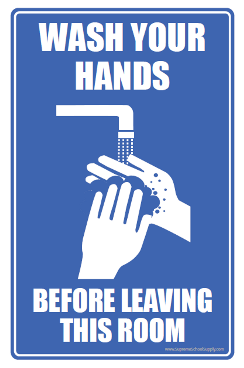 Wash Hands Before Leaving Sticky Note Pad 4x6 (POST12)