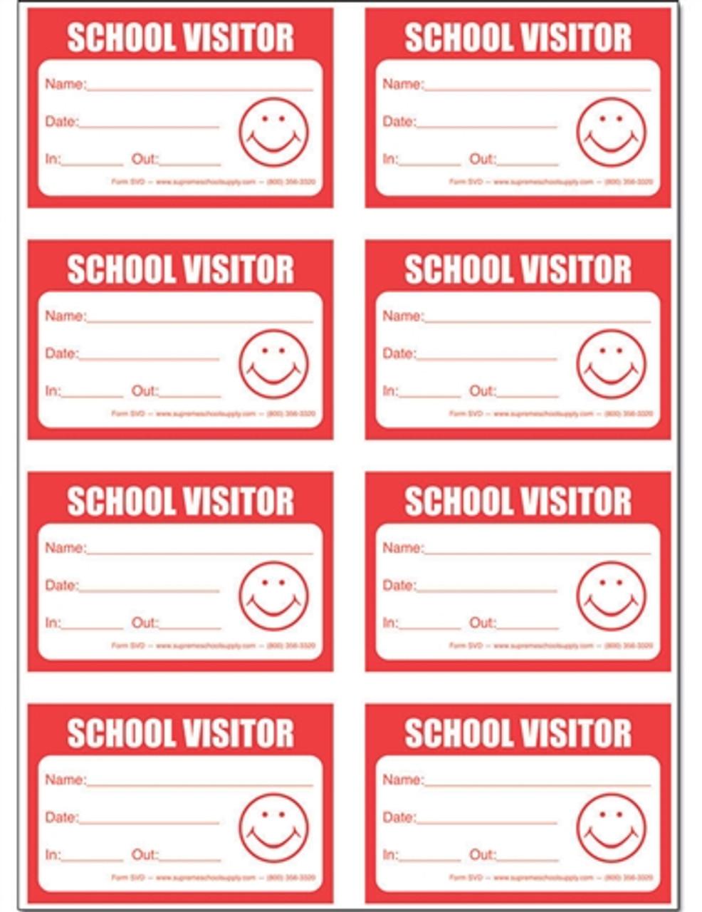 School Visitors Badge Book (SVD-NCR)