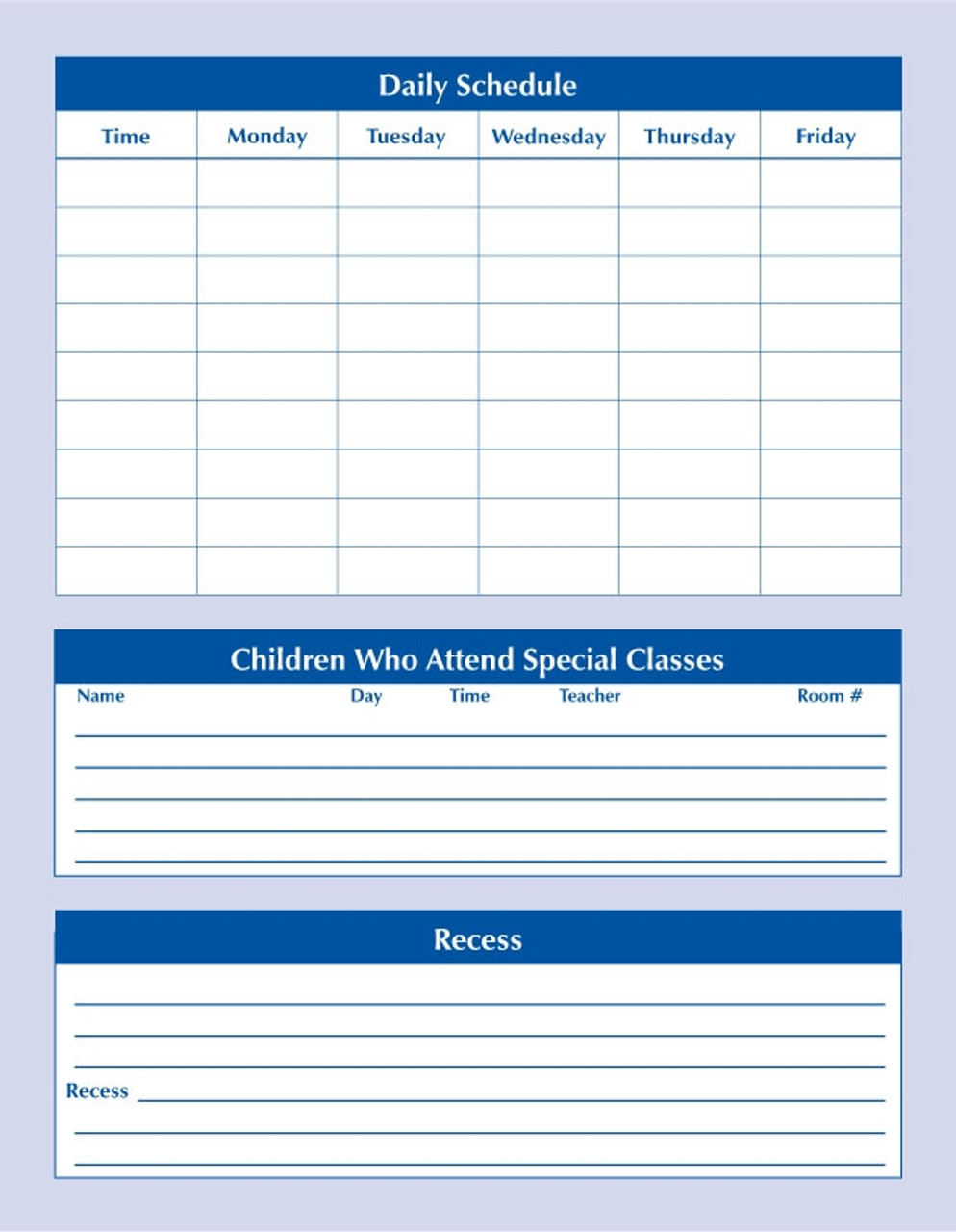 Elementary Substitute Teacher Folder (STFE)