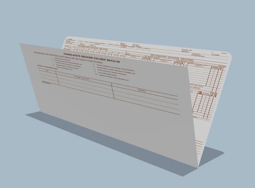 Student Cumulative Record Folder, Manila (SSCA39)