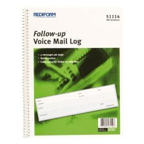 Follow-up Voice Mail Log Book (RED51114)