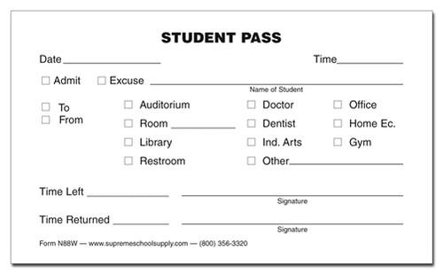 Student Pass, Destination Checkbox (N88W)