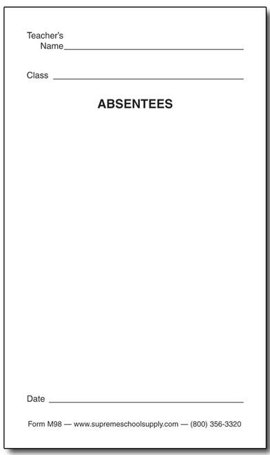Absentees (M98)