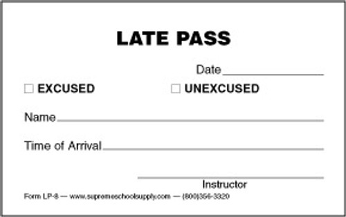Late Pass (LP-8)
