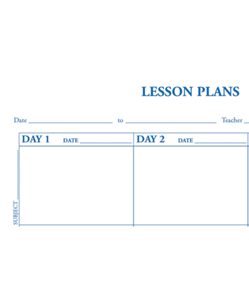 Lesson Plan Book, 6-Day Cycle, Duplicate (66D)