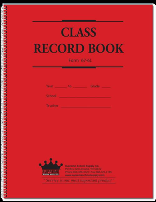 Class Record Book - 6 Subject (67-6L)