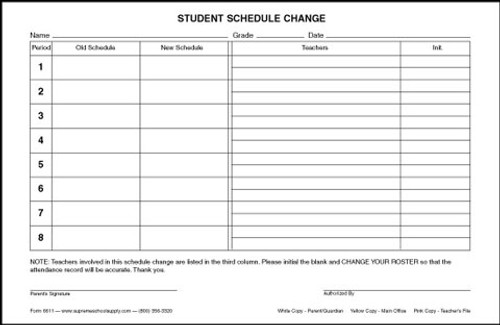 Student Schedule Change (6611)