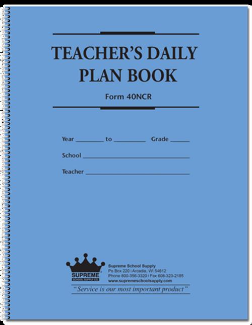 Teachers Plan Book - 6 Subject, NCR (40NCR)