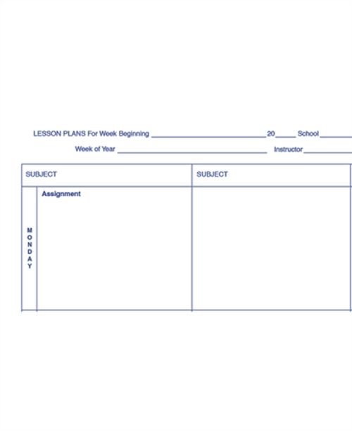 Teachers Plan Book, 6 Subject (40D)