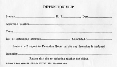 Detention Slips (394)