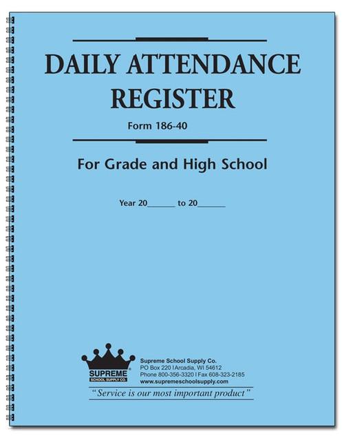 Attendance Register, 186 Series (186)