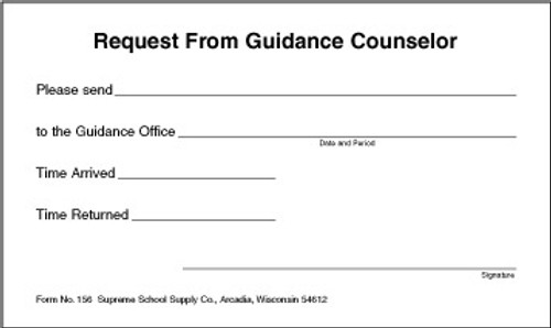 Request For Guidance Counselor (156)