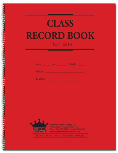 Class Record Book - 6 Subject, 12 Week (1213-6)