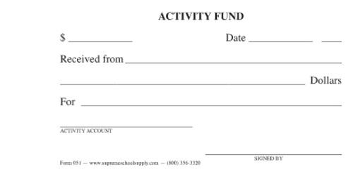 Activity Fund Receipt (051)
