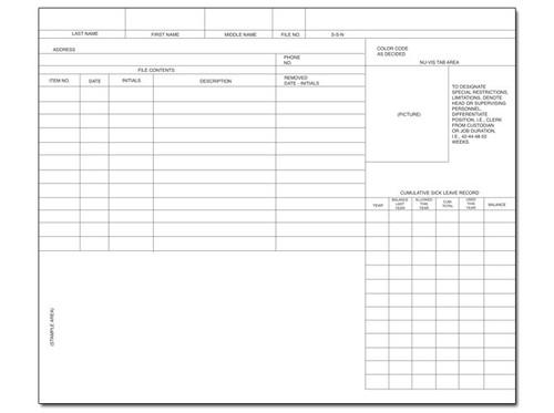 Non-Teaching School Personnel Folder (SSS16NT)