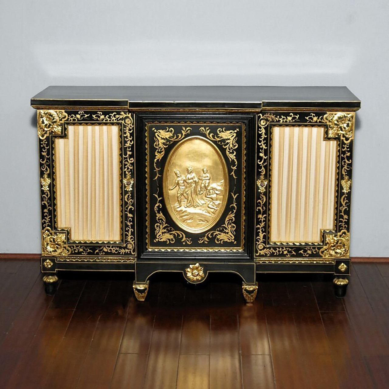 Picture of: Black Gold Italian Buffet Sideboard Server Cabinet
