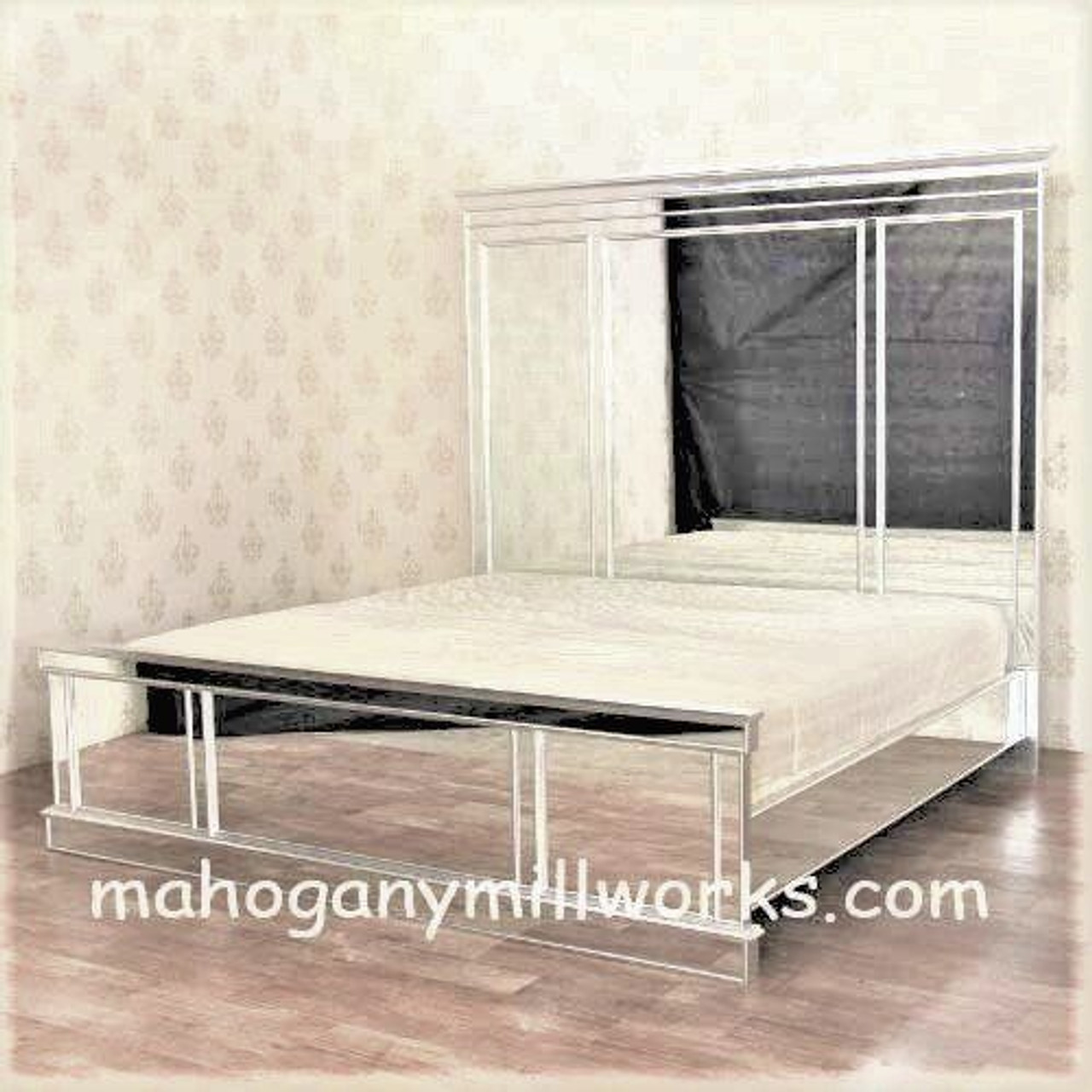 Mirrored Beds Bedroom Furniture And Bedroom Sets Free Shipping