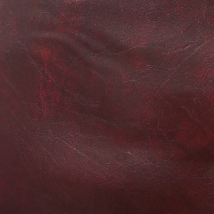 Cameo Burgundy Leather Sample