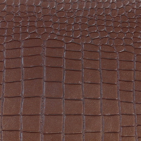 Croco Camera Brown Leather Sample