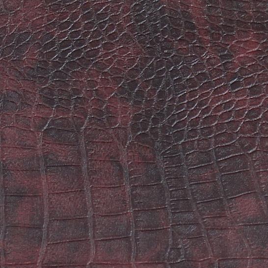 Croco Salsa Burgundy Leather Sample