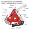REAL AVID Carbon Boss For AR15 With Nylon Sheath Multi-Tool (AVCARBAR15)
