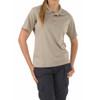 5.11 TACTICAL Womens Performance Silver Tan Short Sleeve Polo (5-61165-160-SILVER TAN-XL)