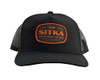 SITKA Hunt Patch Hi Pro Black OSFA Trucker Cap (20199-BK-OSFA)