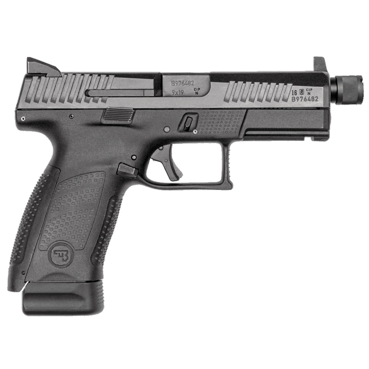 CZ P-10 C 9mm 17rd Suppressor-Ready Black Pistol (91533)