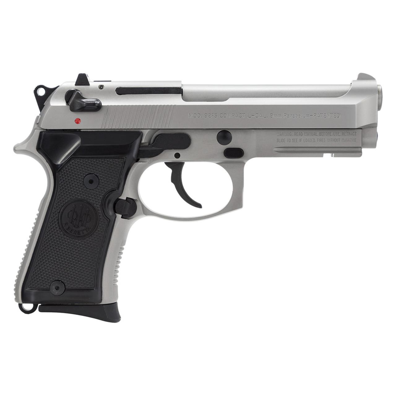 BERETTA 92FS Compact Inox With Rail 9 mm 13Rd Stainless Pistol (J90C9F20)