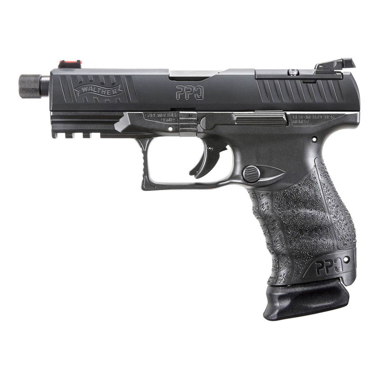 WALTHER PPQ Q4 Tac 9mm 4 6in with Threaded Barrel Black Pistol (2825929)