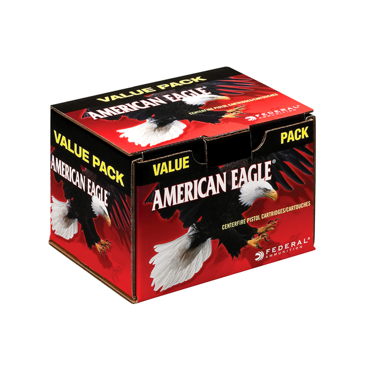 FEDERAL American Eagle 9mm 115 Grain FMJ Ammo, 100 Round Box (AE9DP100)